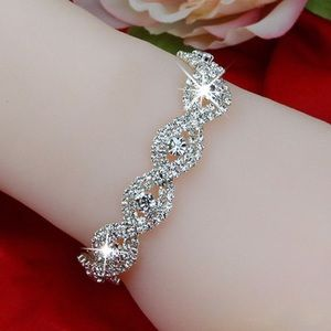 Jewelry - Silver Tone & Rhinestone Bracelet